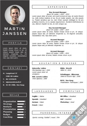 CV Template Geneve