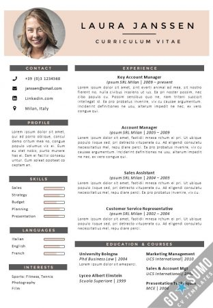 CV Template Milan