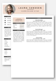 CV Template Milan 2nd page