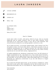 Cover Letter Template Milan