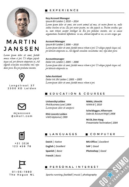 CV Template Antwerp [update]