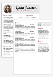 CV Template Madrid 2nd page
