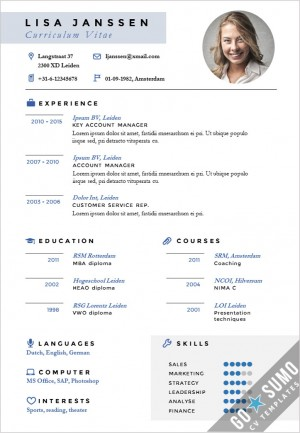 Cv templates archives page 2 of 3 go sumo cv template for Oxford university cv template