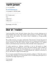 Cover letter template Kopenhagen