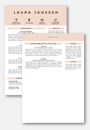 cv template Tokyo 2nd page