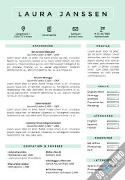 CV / Resume templates Tokyo Blue