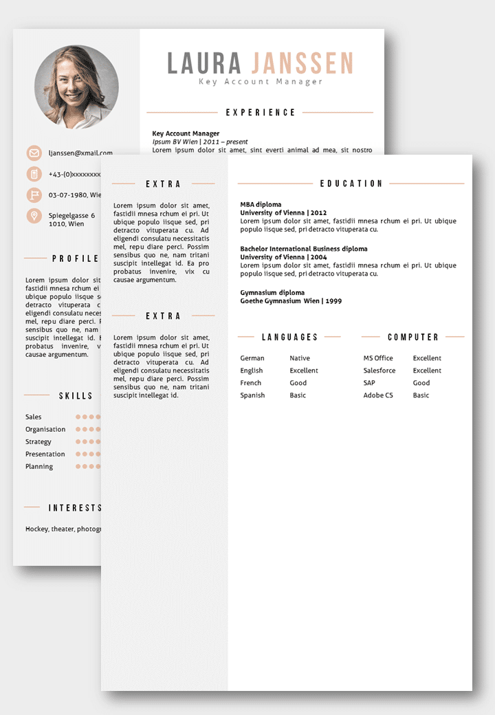 german resume template marketing fresher resume format template