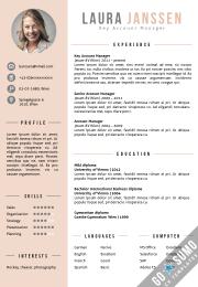 CV template purple