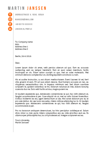 Cover letter template Berlin