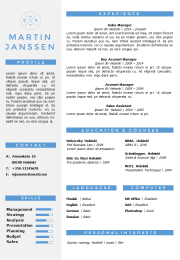 CV Resume Template without picute