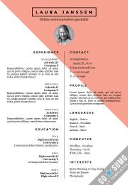 CV template Stockholm red