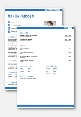 cv template 2 nd page