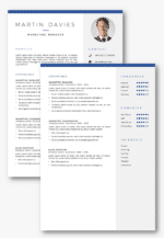 2 page CV Template in Word