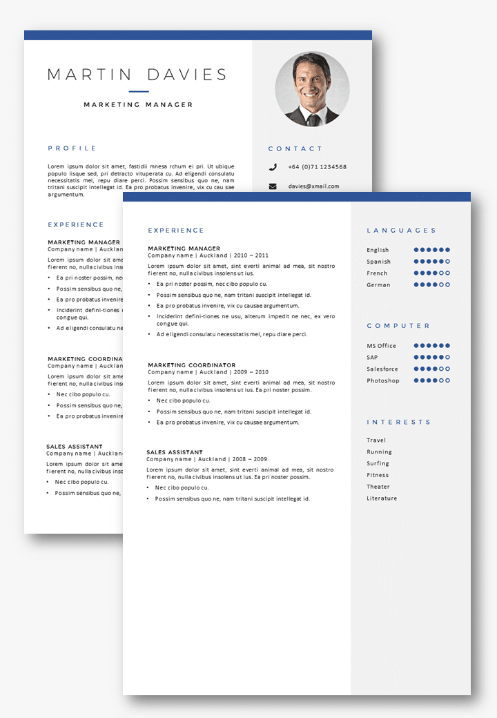 professional cv template auckland