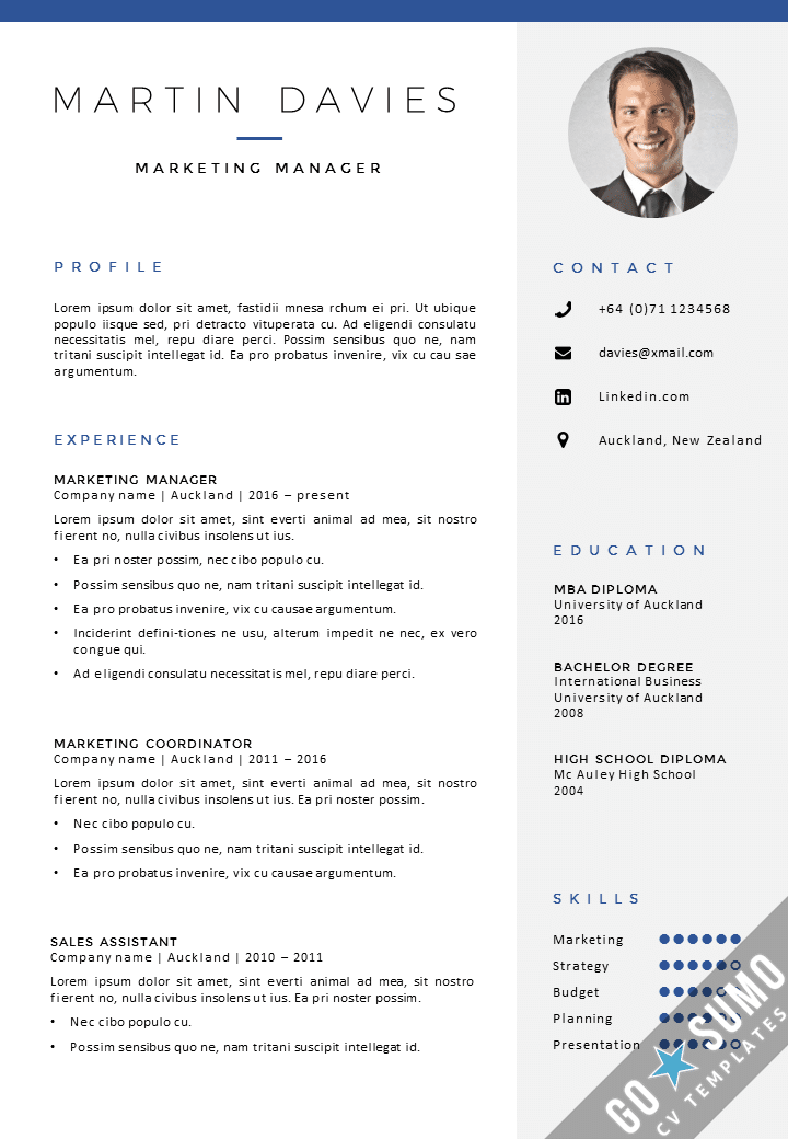 Cv template auckland gosumo cv template for How to create a cv template in word