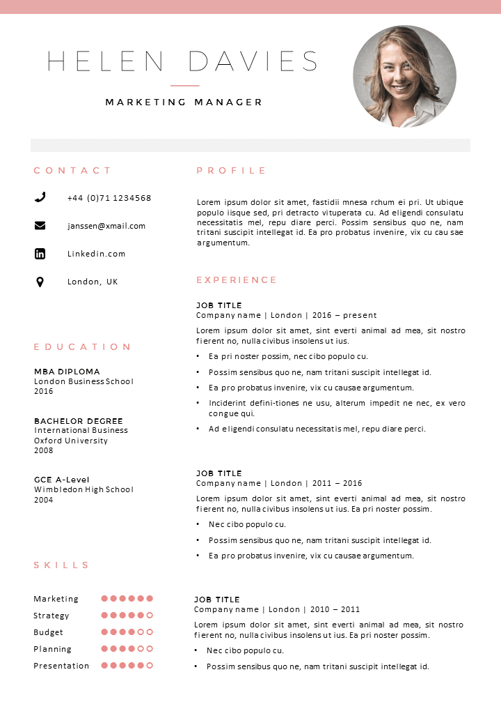 cv template london cv cover letter template in word. Black Bedroom Furniture Sets. Home Design Ideas
