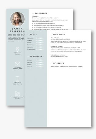 CV Template Melbourne second page