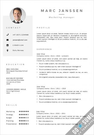 CV Resume template Oslo