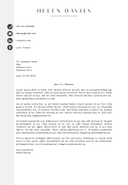 Cover letter template Lyon