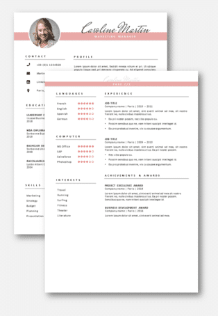 CV Template 2 pages