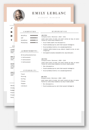 CV Template second page
