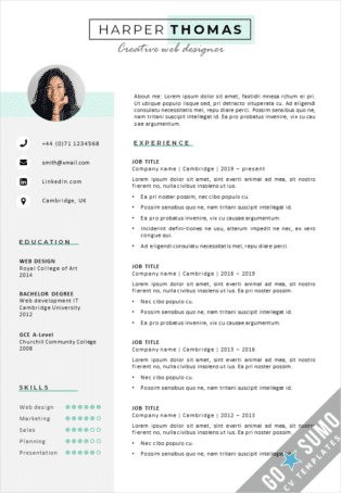 Word CV Template Cambridge