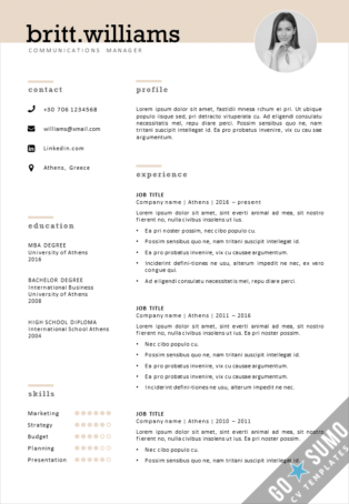 Elegant CV template for Word