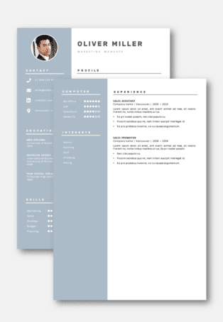 Second page CV Template