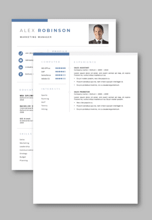 Second page example CV Oxford