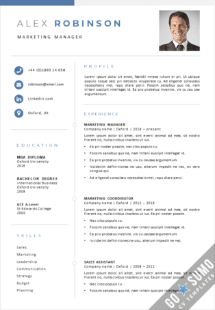 New business CV template for Word