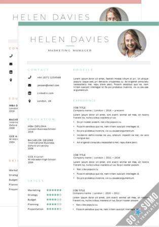 CV Template London 2 Color versions in 1